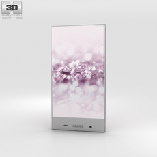 Sharp Aquos Crystal 2 Pink 3D Model