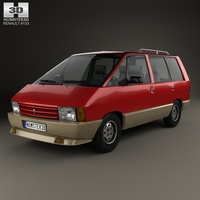 Renault Espace 1984 3D Model