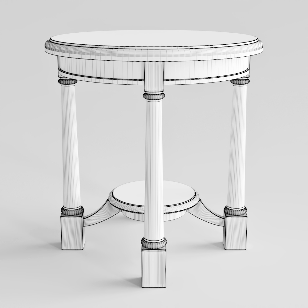 ... 00 57 04 33 Bernhardt Round Side Table Poly 4 ...