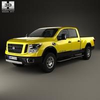 Nissan Titan Crew Cab XD Pro 4X 2016 3D Model