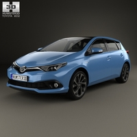 Toyota Auris hatchback Hybrid 2015 3D Model