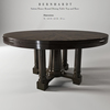 03 45 26 924 bernhardt sutton house round dining table top and bas 4