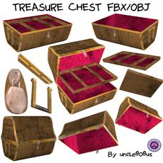 Treasure Chest FBX OBJ 3D Model