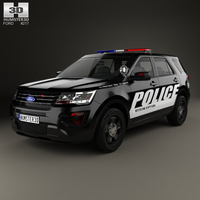 Ford Explorer Police Interceptor Utility 2016 3D Model