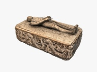 Stone medieval sarcophagus 3D Model