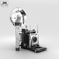 Graflex Crown Graphic Press Camera 3D Model