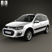 VAZ Lada Kalina (2194) Cross 2014 3D Model