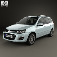 VAZ Lada Kalina (2194) Wagon 2014 3D Model