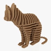 3D Jigsaw Puzzle Cat 1 3D Model