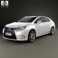 Lexus HS 2014 3D Model