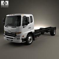 UD Trucks UD1800 Chassis Truck 2011 3D Model