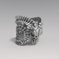 Goat Skull Ring 3D Model