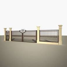 Fence Gate Cast 3D Model