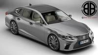 Lexus LS 500 2018 3D Model