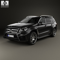 Mercedes-Benz GL-Class X166 Brabus B63 2013 3D Model