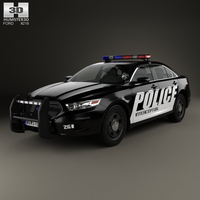 Ford Taurus Police Interceptor Sedan 2013 3D Model