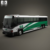 MCI D4500 CT Transit bus 2008 3D Model