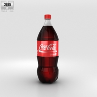 Coca-Cola Bottle 2L 3D Model