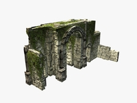 Jungle ruins gate with ivy 3D Model