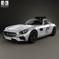 Mercedes-Benz AMG GT S F1 Safety Car 2015 3D Model