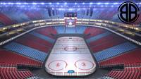 Ice Hockey Arena V2 3D Model