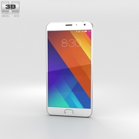 Meizu MX5 Silver 3D Model