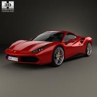 Ferrari 488 GTB 2016 3D Model