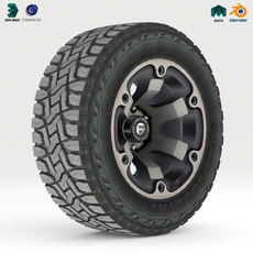 Off Road wheel and tire 2 3D Model