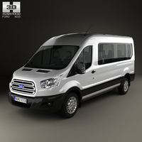 Ford Transit Minibus 2014 3D Model