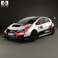 Honda Civic Type-R TCR 2015 3D Model