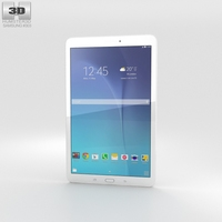 Samsung Galaxy Tab E 9.6 White 3D Model