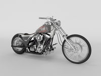 Harley Davidson FXR 1989 custom 3D Model
