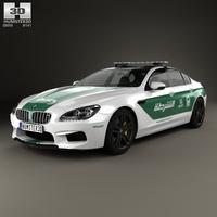 BMW 6 Series M6 (F13) GranCoupe Police Dubai 2014 3D Model