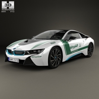 BMW i8 Police Dubai 2015 3D Model