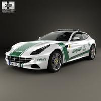 Ferrari FF Police Dubai 2013 3D Model