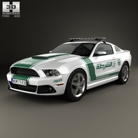 Ford Mustang Roush Stage 3 Police Dubai 2013 3D Model
