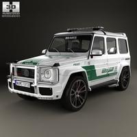 Mercedes-Benz G-class Brabus G700 Widestar Police Dubai 2013 3D Model