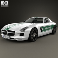 Mercedes-Benz SLS-class (C197) AMG Police Dubai 2013 3D Model