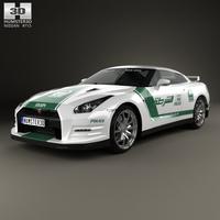 Nissan GT-R (R35) Police Dubai 2013 3D Model