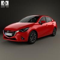 Mazda 2 (Demio) 2015 3D Model