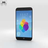 Meizu MX3 Black/White 3D Model