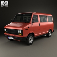 Fiat Ducato Passenger Van 1981 3D Model
