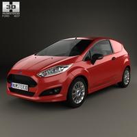 Ford Fiesta Van 2014 3D Model