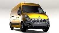 Renault Master L3H2 Van 2010 3D Model