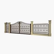 fence cast 03 3D Model