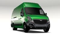 Vauxhall Movano L4H3 Van 2016 3D Model