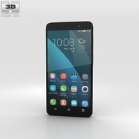 Huawei Honor 4X Black 3D Model
