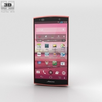 Fujitsu Arrows A 202F Pink 3D Model
