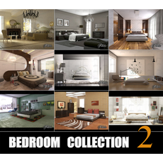 Bedrooms collection 2 3D Model