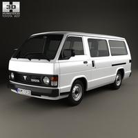Toyota Hiace Passenger Van 1982 3D Model